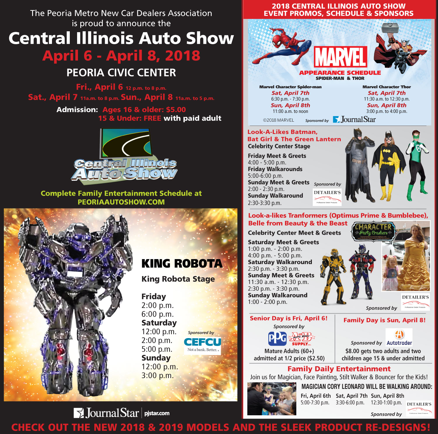 2018 Central Illinois Auto Show Event Promos, Schedule and Sponsors