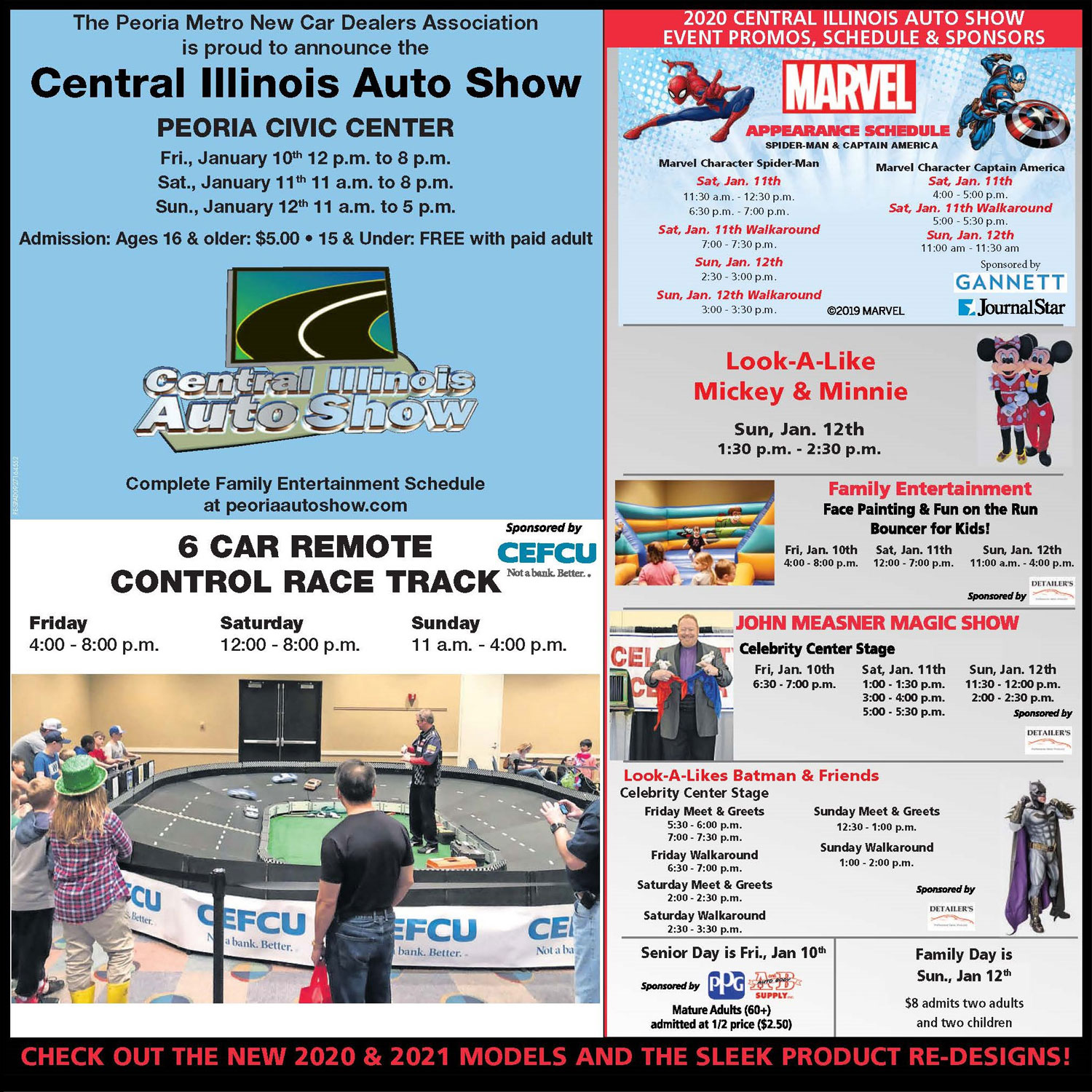 2020 Central Illinois Auto Show Event Promos, Schedule and Sponsors